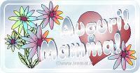 biglietti per la festa per la mamma, con cuori e fiori, auguri